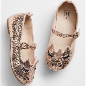 GAP Gold Unicorn Glitter Toddler Shoes